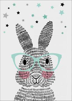 Art Room Britt: Rabbit Illustration Using Line Rabbit Illustration, Illustration Art, Lapin Art, Illustration Mignonne, Bunny Art, Art Education, Art For Kids, Art Projects, Artsy