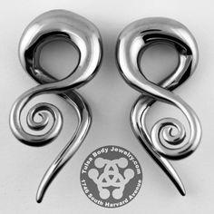 Loving Swirls Stainless Steel Hangers #0g #2g #4g