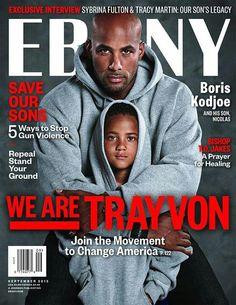 EBONY magazine has dedicated their September 2013 issue to Trayvon Martin and has published four different covers. This one features Austrian-born actor and former fashion model Boris Kodjoe and his son, Nicolas. Boris Kodjoe, Jet Magazine, Black Magazine, Life Magazine, Magazine Rack, Trayvon Martin, Ebony Magazine Cover, Magazine Covers, Essence Magazine