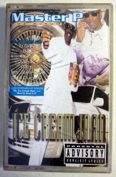 "Master P - ""Ice Cream Man"" Music Cassette Tape 1996 No Limit Records #GangstaHardcore"