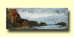Peter M Hicks; Study at Saltwick ~ Winter; mixed media; 11x31cm; £350 SOLD