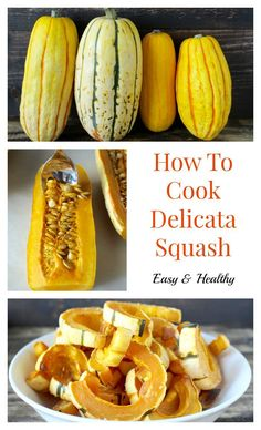 How To Cook Delicata Squash- this easy side dish is healthy and delicious! Paleo, vegan, dairy free, and gluten free. (How To Baking Squash) Whole 30 Recipes, Fall Recipes, Whole Food Recipes, Cooking Recipes, Yummy Recipes, Cooking Tips, Healthy Recipes, Courge Spaghetti, Spaghetti Squash