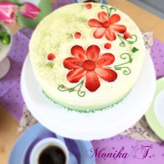 Rhabarbersahne Torte - Kuchen
