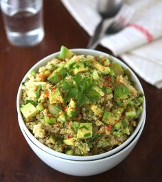 Green Quinoa Salad....I have been looking for Quinoa recipes and I am definitely going to try this one.