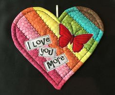 Heart Mat I Love You More  heart & Butterfly by InspiredSpirits