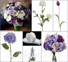 #purple wedding #afloral http://blog.afloral.com/inspiration-boards/erinns-lavender-blue-cream-inspiration-board/