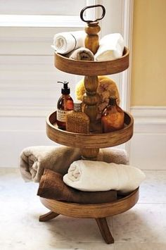 accent piece. Oh how I love! Wonderful for displaying homemade bath salts, scrubs, and bubble bath <3 could display things for guests to use or buy.
