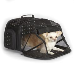 East Side Collection Ultimate Traveler Black Pet Carrier | Overstock.com Shopping - The Best Prices on East Side Collection Portable Carrier...