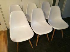 6 Eames DSW Stühle REPLIKA, Weiß, Buchenholzbeine, 60 EUR/Stück In Berlin