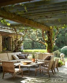 Beautiful covered patio.