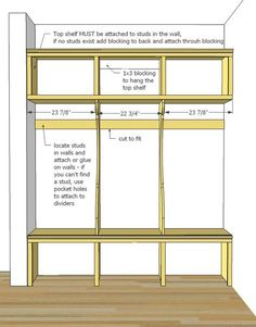 Ana White Smiling Mudroom Diy Projects Cubby Storage Ideas Laundry Room