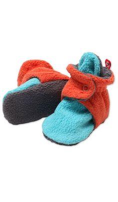 Fleece Color Block Booties by Zutano