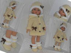 """Купить Комплект для Паолок """"Жемчужный"""" - комбинированный, одежда для кукол, пальто для куклы, паола рейна"""