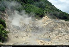 Sulphur Springs Drive-In Volcano, St. Lucia. I thought our vehicle wouldn't make it. So steep. Relieved to finally arrive.