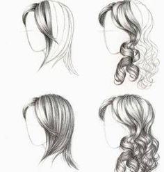 paso 3 para aprender a dibujar cabello de mujer