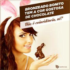 Aproveite o feriado para desfilar seu bronzeado e comer chocolate de monte!  #FelizPáscoa