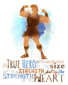 #Hercules #Disney #Etsy #Hero #Heart #Strength #Lesson #Inspiration #Poster #Download #Quote