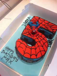 Spider man cake                                                                                                                                                                                 More