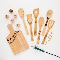 Personalize os utensílios de madeira! | Vídeos e Receitas de Sobremesas