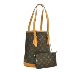 """AUTH BUCKET PM SHOULDER BAG PURSE BBG6411 """"It is 100% Authentic Item - Previously Owned but Good Condition,Please Check all the Photos!  Material: Monogram Canvas, Leather, Color : Brown , OK CONDITION,,Stink of material.  ,  No Trade."""" Louis Vuitton Bags Shoulder Bags"""