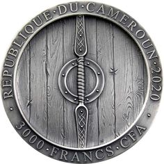 AXEMAN VIKING Legendary Warriors 3 Oz Silver Coin 3000 Francs Cameroon 2020
