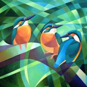 Young Kingfishers Oil on Canvas 12 x SOLD Contact Alison about this painting Back to Gallery