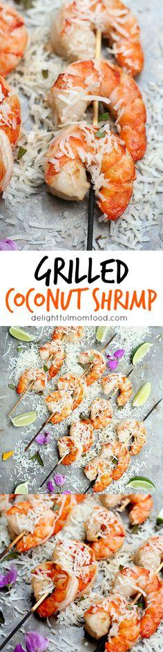 Coconut milk shrimp skewers recipe . Let the grilling season begin ...