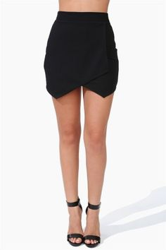 Open Envelope Skirt - Black