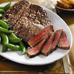 Tangy Lime Grilled Top Round Steak -- From Beef its whats for dinner website. looks good