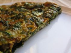Oven-baked ricotta and spinach frittata - Recipe Detail - BakeSpace.com