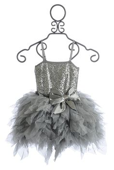 Ooh La La Girls Sparkling Party Dress Silver Emma $114.00 oh my goodness, I just had to pin this!! =D my Mercedes would LOVE this!!! =D
