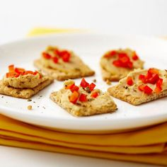 Best Stress Buster: Hummus and Red Pepper Bites - Fitnessmagazine.com