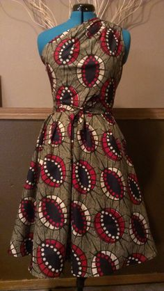 Retro repro vintage style....Unique and Beautiful African Wax print Dress One by WithFlare, $50.00