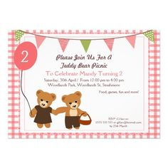 Teddy Bear Picnic Birthday Party Printables Collection 1st