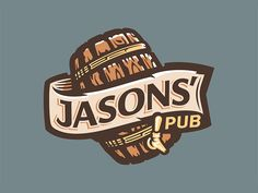 Logo concept for a pub owned by two guys named Jason, hence the placement of the apostrophe.