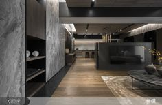Flat Interior, Interior Concept, Modern Interior, Interior Architecture, Living Room Modern, Living Room Interior, Home Living Room, Living Room Designs, Wood Tiles Design