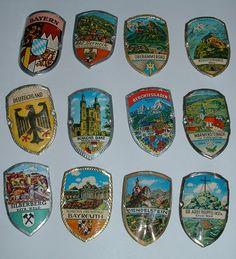 Vintage german walking stick badges shields Stocknägel Stockschilder #04   eBay