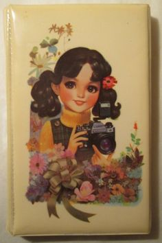 vintage pencil case (China) - girl
