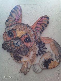 Картина панно рисунок Квиллинг Шоколадно-кофейное настроение Бумажные полосы фото 2