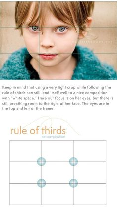 "Photography Tips | Great tips on the ""rule of thirds"" and ""white space"" when taking photos. Love this site!"