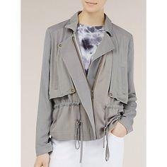 Buy Kaliko Soft Sporty Jacket, Grey Online at johnlewis.com