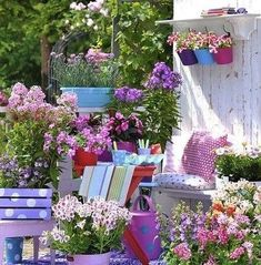 A wonderful garden decoration is done by adding colors, creative constructions made by us and many colorful flowers. Discover how to turn your garden into an oasis of relaxation. Love Flowers, Diy Flowers, Colorful Flowers, Flower Decorations, Beautiful Flowers, Balcony Flowers, Flower Diy, Beautiful Beautiful, Colorful Garden