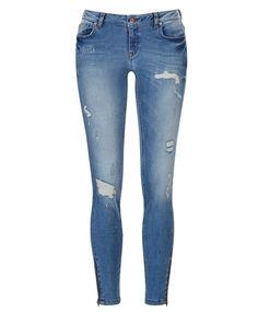 Gina Tricot - Kristen zip jeans
