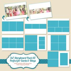 Instant Download X Photo Card Template Storyboard Template
