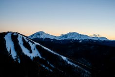 Beautiful view of North Peak at sunset.