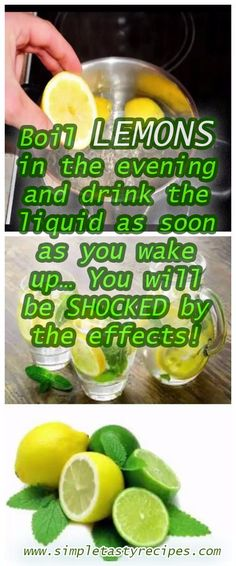 Number of Detox Ideas on this Site - Boil Lemons in the Evening and Drink the Liquid as Soon as You Wake Up … You will Be Shocked by the Effects! Healthy Detox, Healthy Drinks, Get Healthy, Healthy Tips, Easy Detox, Healthy Food, Boil Lemons, Health And Wellness, Health Fitness