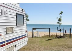 Scarness Beach Front Caravan Park - Check out the great prices on Campedia Stuff To Do, Things To Do, Caravan, Recreational Vehicles, Activities, Park, Beach, Places, Check