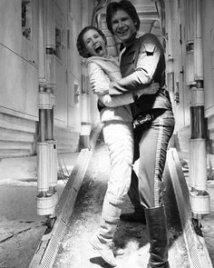 Always love these two! Was kind of disappointed to see they had grown apart in The Force Awakens. #starwars #theempirestrikesback #episodeV #1980 #lucasfilm #disney #theforceawakens #episodeVII #hansolo #princessleia #SWsaga by starwars.saga