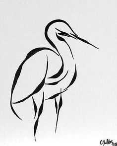 Egret Painting by Catherine Jeltes