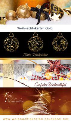 Weihnachtskarten Gold für Firmen www.weihnachtskarten-druckerei.net